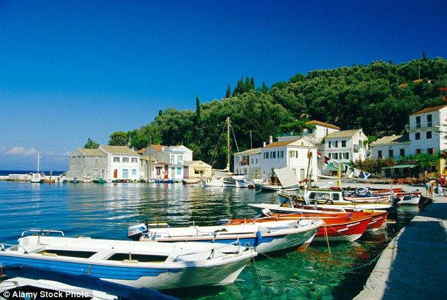 Natural charm: The harbour in Loggos village on Paxos is a picturesque paradise...