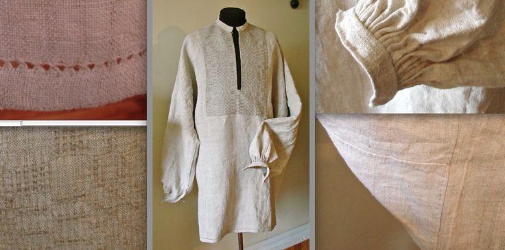 Сорочка з домотканого полотна пошита вручну. Приватна власність власника