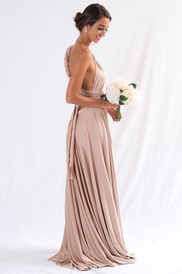 abbd3d20c5eb Light Gold bridesmaid dresses. Luxe Multiway Infinity Dress in Light Gold
