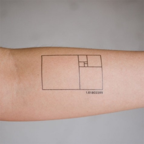 Fibonacci in a tattoo, serious geekdom here