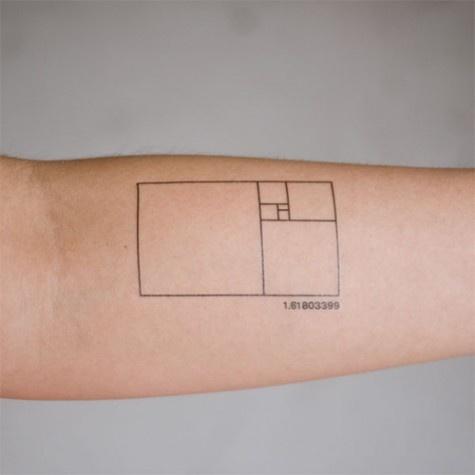 Fibonacci: Tattoo'S Design, Tattoo'S Inspiration, Fibonacci Tattoo'S, Geometric Tattoo'S, Golden Ratio, Ratio Tattoo'S, Temporary Tattoo'S, Goldenratio, Golden Rectangle