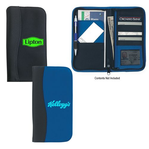 Get FREE Custom Design on Custom Microfiber Travel Wallets With Embossed PVC Trim. Try Now!   #CustomWallets #BusinessPromotions #bags