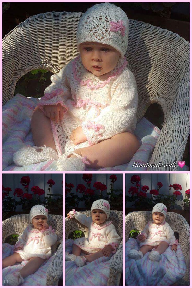 Milena #knitting #strikkking #nadrutach #sukienka #babyshower #princess #hobby #handmadewithlove