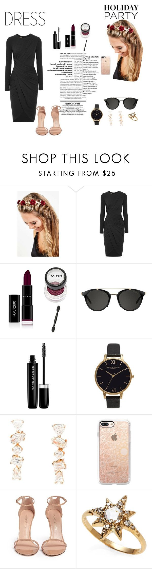 """""""Untitled #2"""" by silviamachado20 ❤ liked on Polyvore featuring Johnny Loves Rosie, Michael Kors, Carrera, Marc Jacobs, Olivia Burton, Kimberly McDonald, Casetify, Stuart Weitzman and Anzie"""