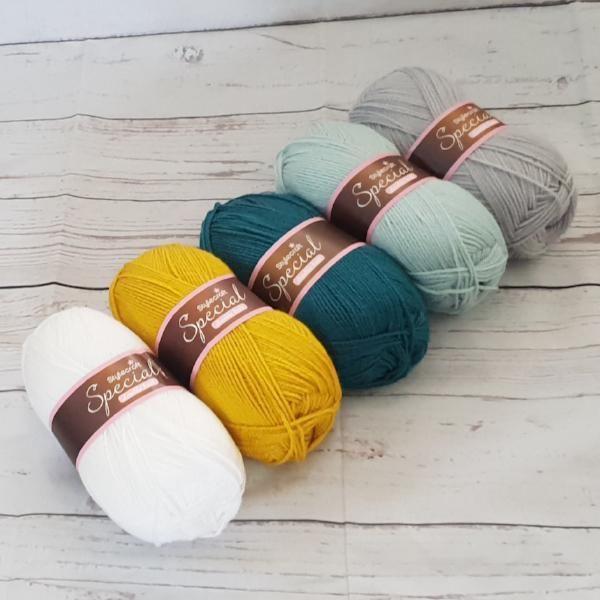 Orange 5 x 100g Good Old Fashioned DK Knitting Wool//Yarn