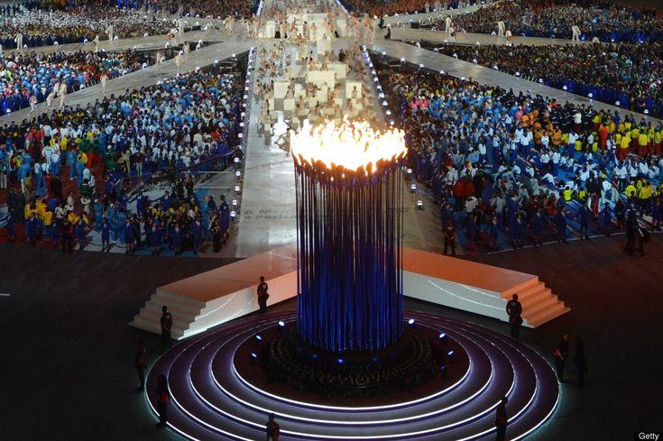London Olympics Closing Ceremony torch