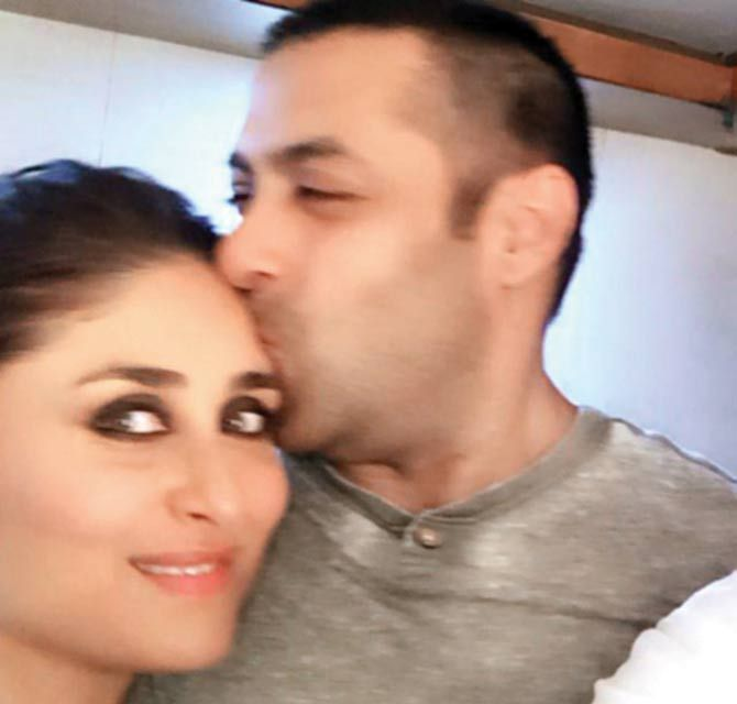 This snapshot of Kareena Kapoor and Salman Khan clicked by Bebo's hairstylist Pompy Hans has gone #viral. #Bollywood #Fashion #Style #Beauty #Handsome #Cute