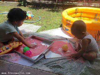 Diari Mami Ubii: DIY Finger Paint Yang Aman Untuk Bayi 6 Bulan