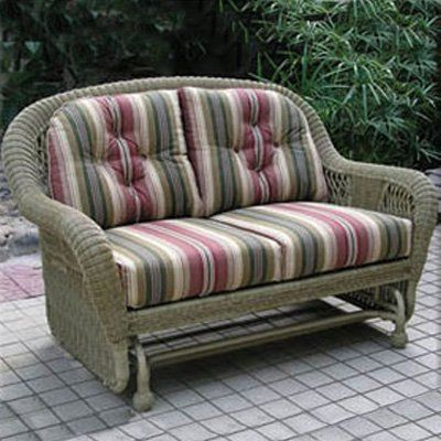 Have to have it. St. Lucia 4-ft. Resin Wicker Double Outdoor Glider $1699.99