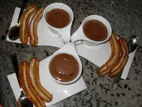 Chocolate con churros con Thermomix