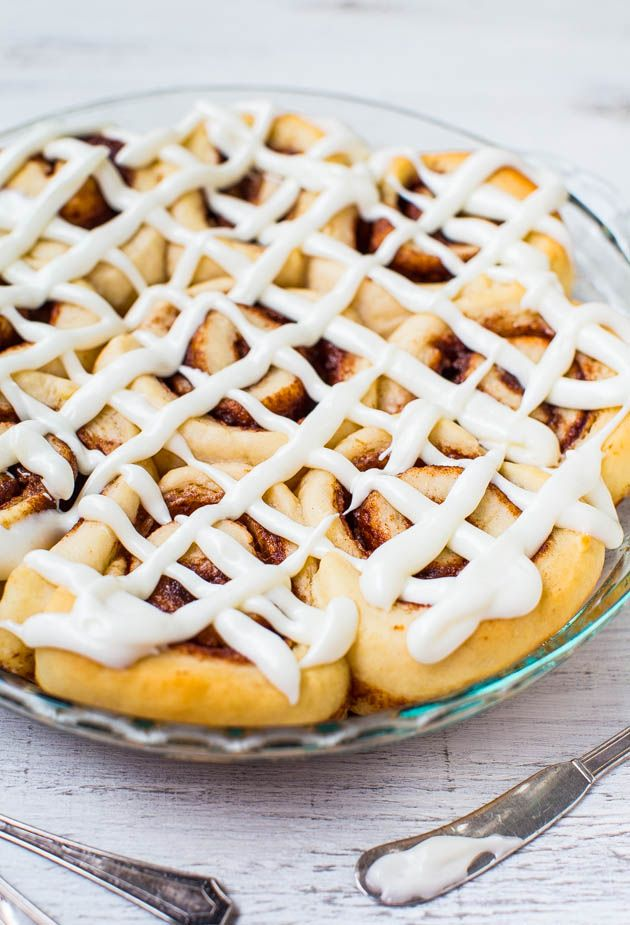 One-Hour Homemade Cinnamon Rolls with Cream Cheese Frosting - It's possible to make soft, light, fluffy cinnamon rolls from scratch in 1 hou...