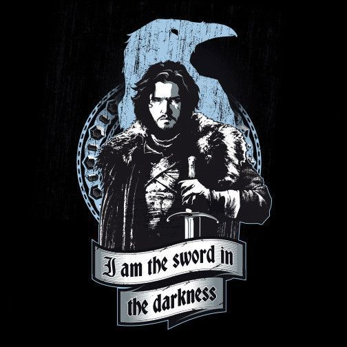 I am The Sword in The Darkness T-Shirt $12 Game of Thrones tee at Unamee today only!