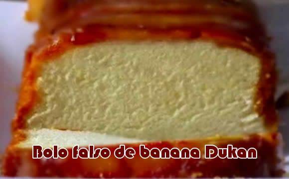 Receita especial e deliciosa de bolo falso de banana com canela e farelo de aveia. Receita para dietas, principalmente a dieta dukan. Fácil e rápido.