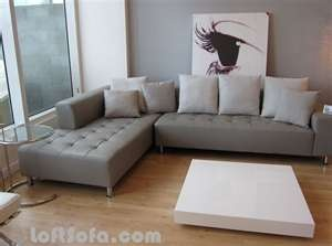 Gray Leather Sofa. Grey Sectional CouchesLiving Room ...