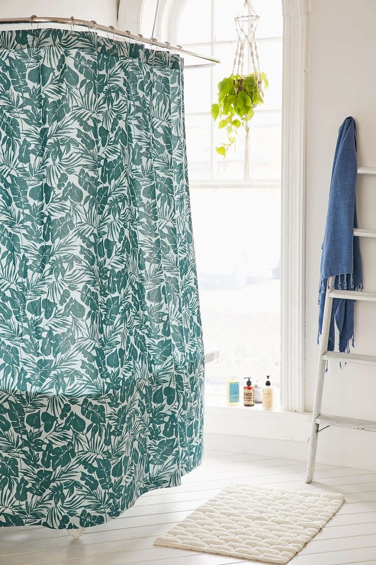 Palm shower curtain - Assembly Home Palm Springs Shower Curtain