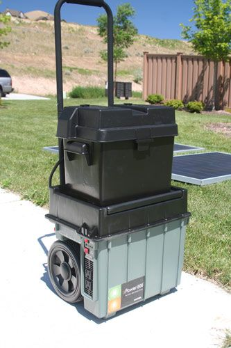 SOLAR POWERED GENERATOR: Electricity During an Emergency | a portable system that would lend itself to bugging out, camping, or going mobile for whatever reason.