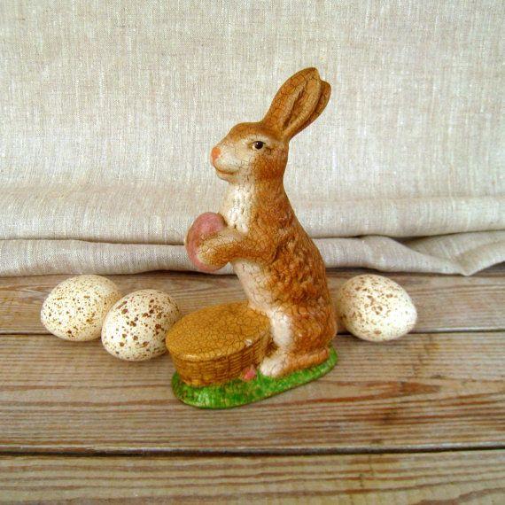 Vintage Easter Bunny Chalkware Easter Bunny Easter by VintageMAM