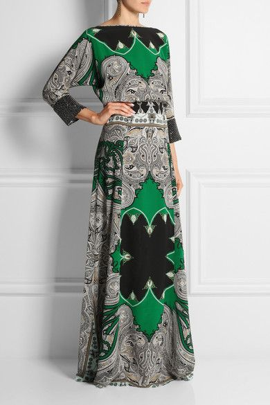 Multicolored silk crepe de chine Concealed hook, snap and zip fastening at back 100% silk; embellishment: 50% glass, 35% silk, 15% viscose Dry clean
