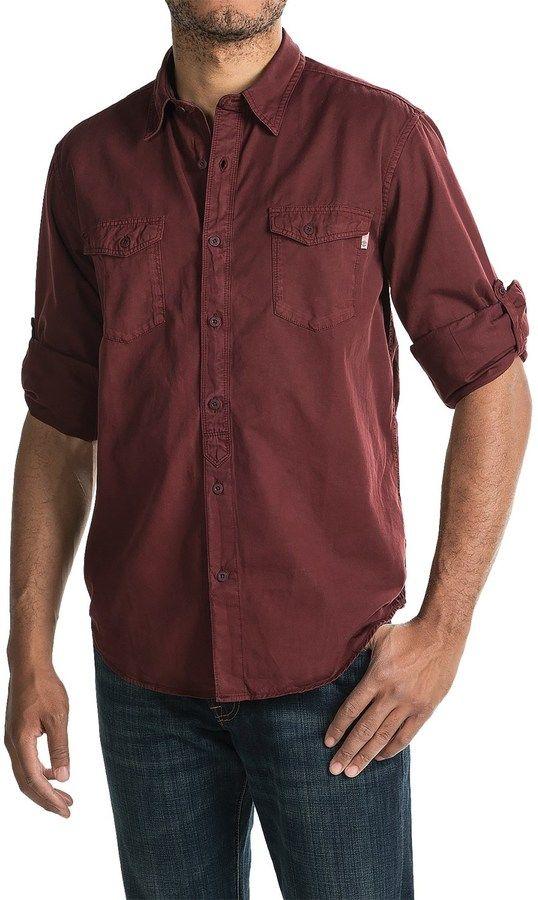 Timberland Twill Cargo Shirt - Long Sleeve (For Men)