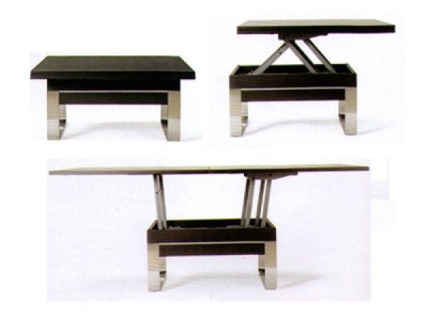 Meer dan 1000 idee n over table basse relevable op - Table basse transformable en table a manger ...