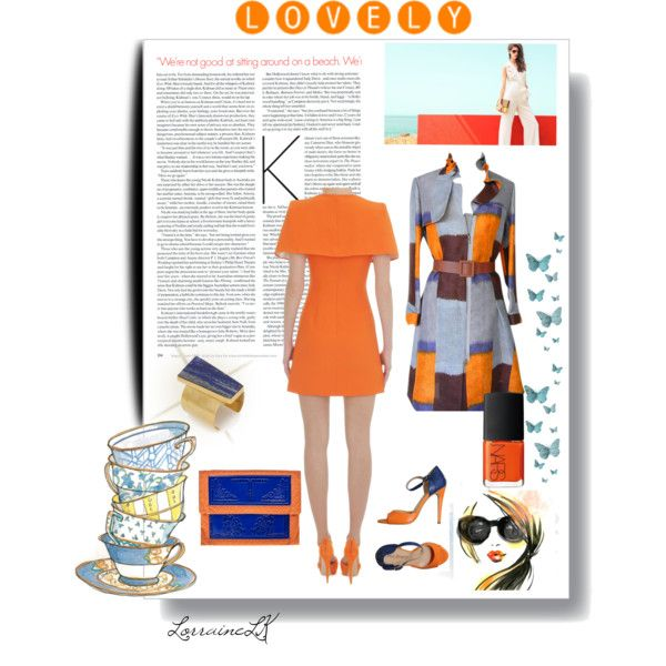 """Orange Crush"" by cultureshockart on Polyvore"