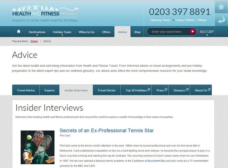 Our Insider Interviews page explores a wealth of #wellness knowledge and sporting expertise from leading #health and #fitness professionals around the world.