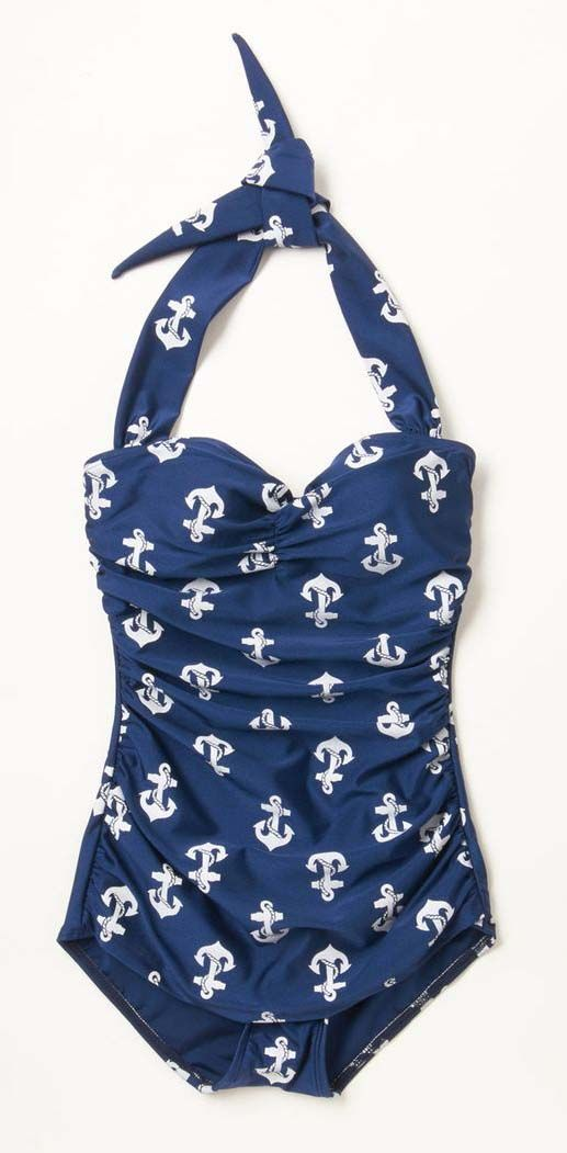 One-Piece Swimsuit in Anchors