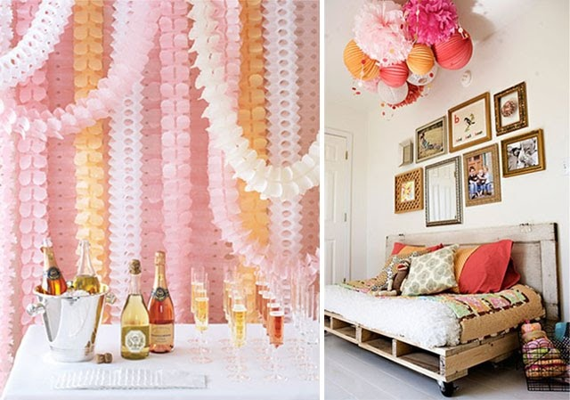 Paper Garland Backdrop Paper Lantern Ceiling Decoration