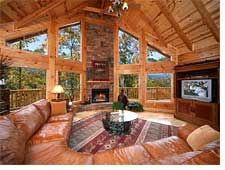 Silvercreek Log Cabin Vacation Rental – Gatlinburg - Love the interior of this cabin.