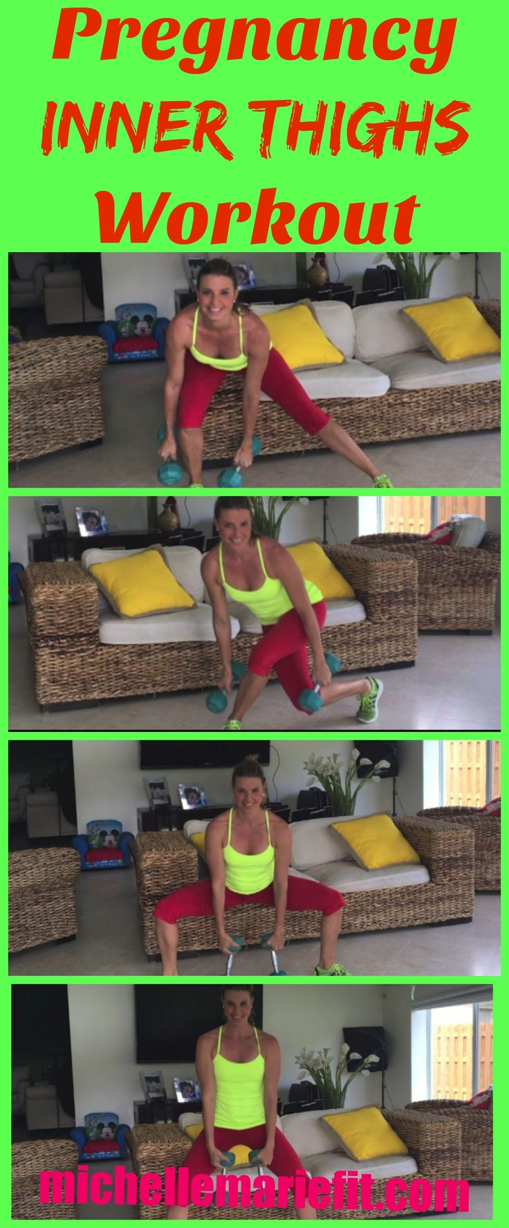 3 Exercise Pregnancy Circuit for the Inner Thighs.  15 Minute Workout, no gym required.