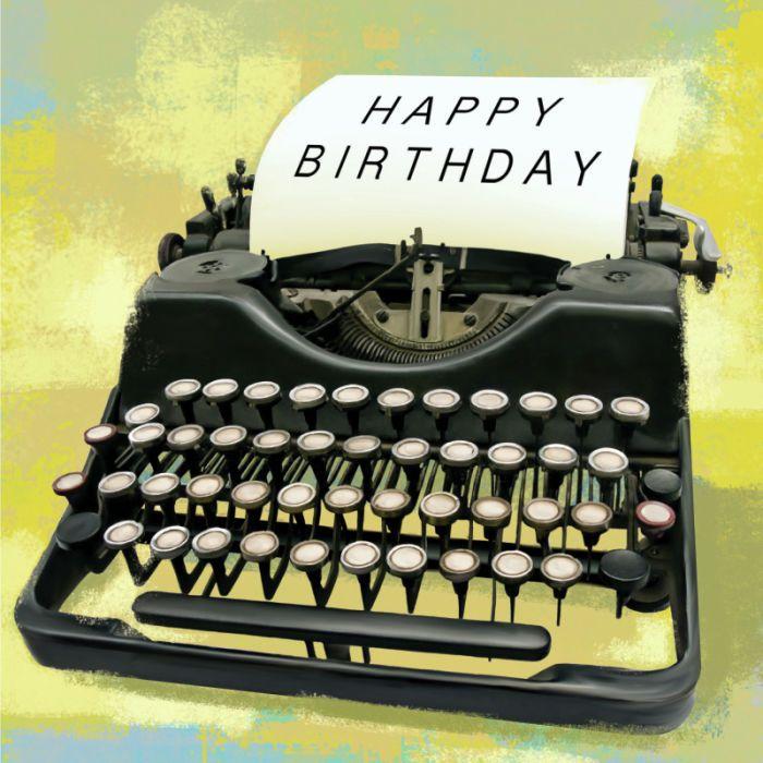 Martin Irish - TYPE WRITER Copy | Happy Birthday :) o Feliz ...