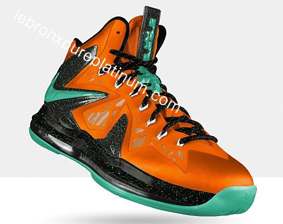 Lebron X Playoffs LeBron X PS Elite Total Orange Sport Turquoise