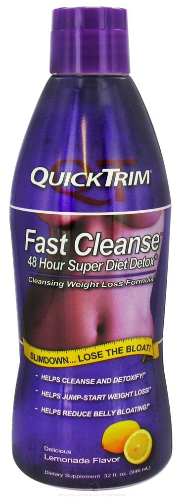 QuickTrim Fast Cleanse 48 Hour Super Diet Detox Weight Loss Formula with 50 % off <3 ......