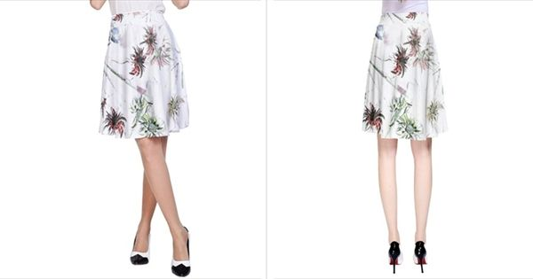 Flowers  Vida A Line Skirt A-Line Skirt