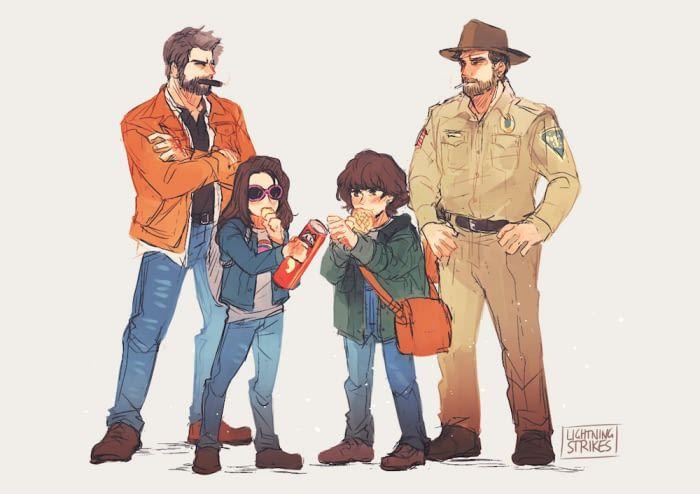 Little murder girls and their dads