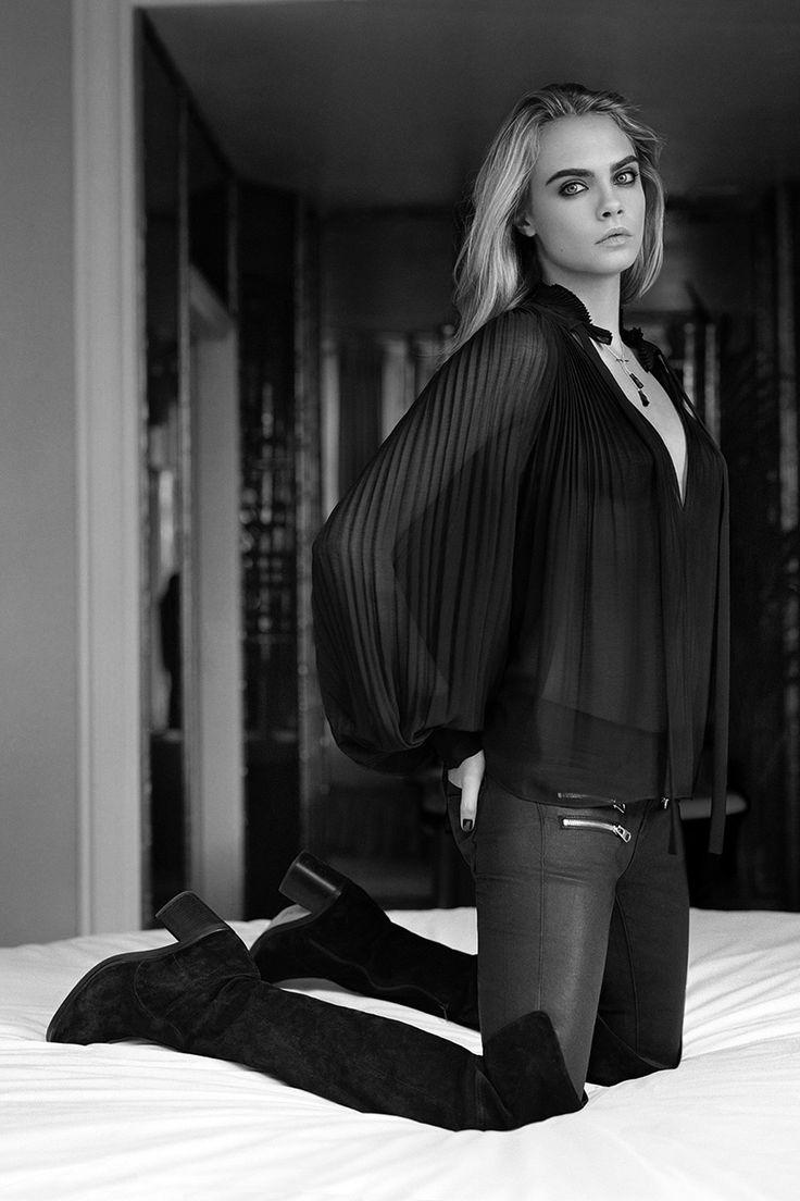 "senyahearts: ""Cara Delevingne Topshopille F / W 2014-2015 Valokuvannut: Alasdair McLellan"""