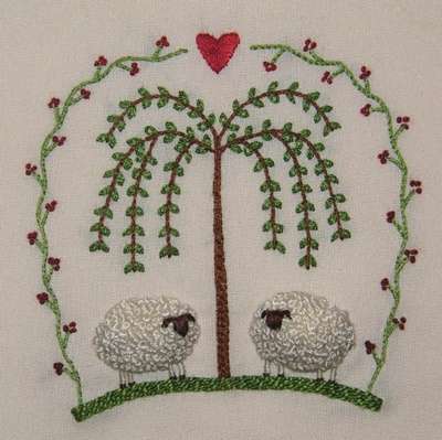 Sheep embroidery - darling!
