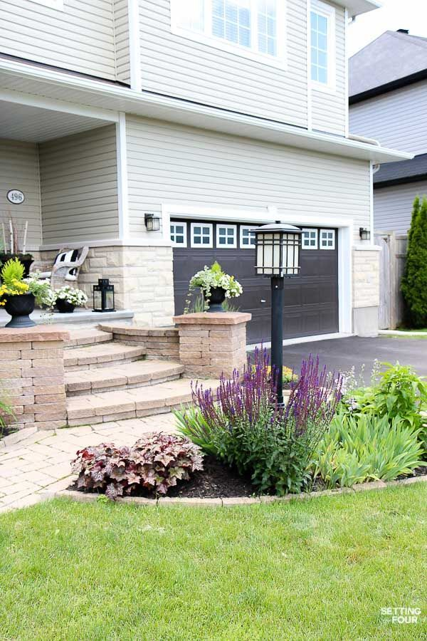 See My Landscaping Around A Lamp Post Tips And Tricks To Blend A Lamp Post Into The Front Of Light Post Landscaping Outdoor Lamp Posts Landscaping Around House