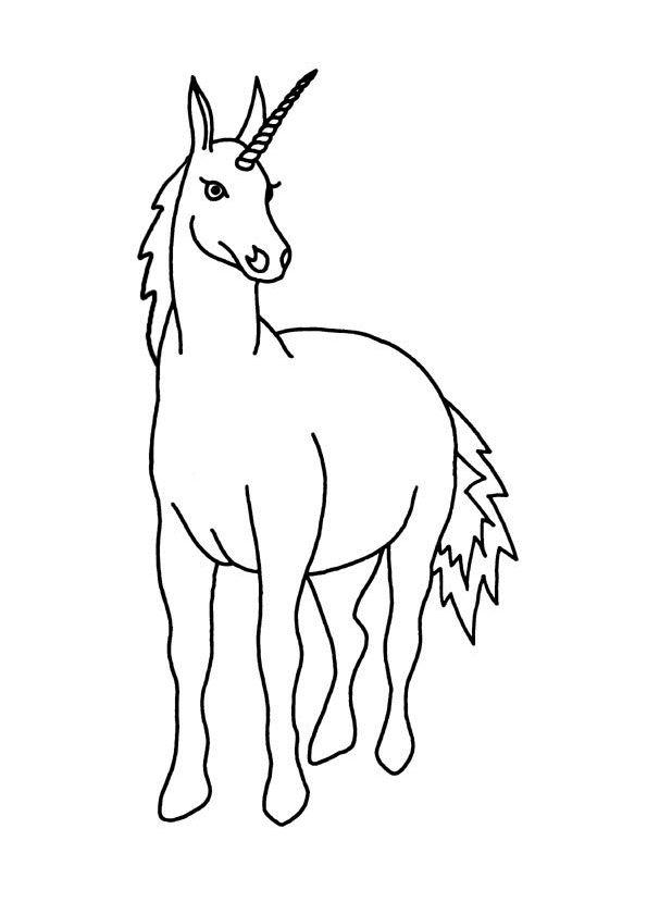 Image d'une licorne à imprimer après l'avoir colorié