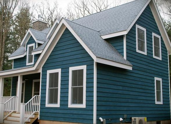 Federal Blue Semi Solid Stain Siding Our Favorite