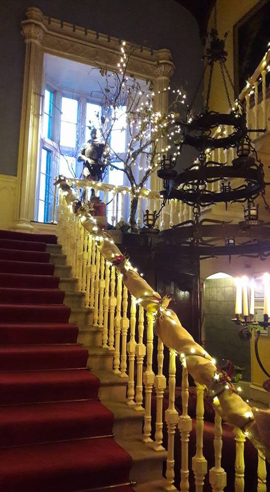 Christmas in a Castle #medievalweddings#intimates #Belleek Castle staircase