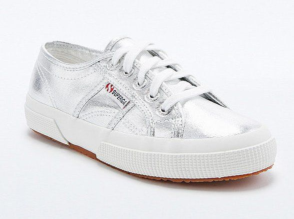 Pin for Later: 80 Gifts to Buy For the 20-Something Lady in Your Life  Superga 2750 Cotu Silver Trainers  (£45)