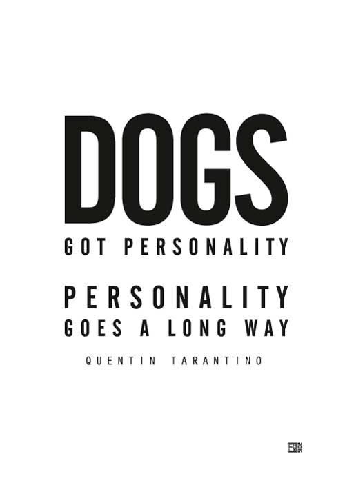 Dogs Got Personality – Pulp Fiction Poster