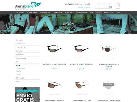 ¡En Alestebrand también vas a encontrar un gran variedad de anteojos de sol!