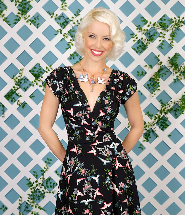A classic staple for every retro wardrobe, the 1940's Dress is an enduring '40s style favorite!