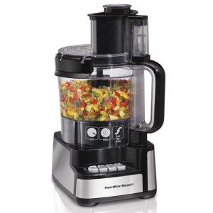 Hamilton Beach 70725A 12-Cup Stack and Snap Food Processor: With a completely sealed bowl and a simple design, the Hamilton Beach 70725A is all about getting the job done without creating any fuss. The processor requires minimum twists, turns and locks during assembly and comes with a power motor to deliver on the toughest of food inputs.