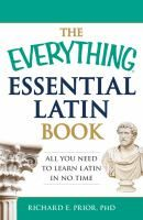 Learning the basics of Latin can vastly improve your vocabulary and even provide keys to understanding legal, medical, and scientific terminology. The Everything Essential Latin Book is your perfect introduction to this fascinating language. With easy-to-follow instructions and simple explanations, this portable guide covers the most important basics of Latin