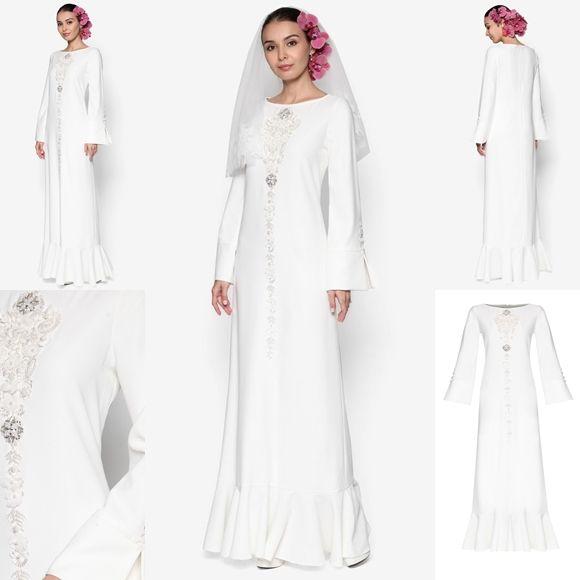 Baju Pengantin Terkini 2016 2017 Rizalman Bridalwear Daisy Flare Jubah