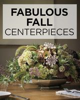 Fabulous Fall Centerpieces | Martha Stewart Living - As fall approaches and the weather starts to cool, entertaining makes its move indoors.