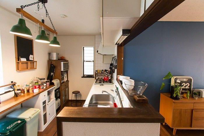 ダイニングと一体化したオープンキッチン。
